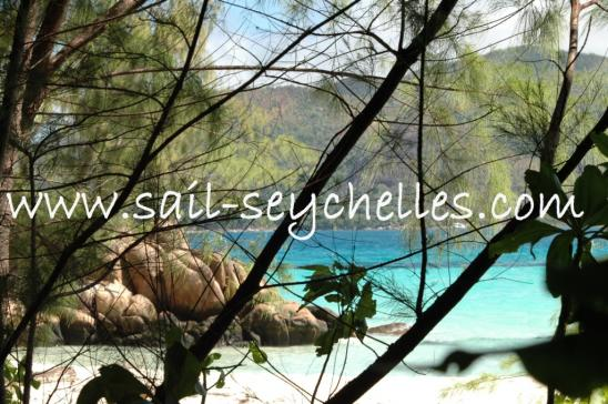 Sailing Yacht Charter Seychelles Beach at Curieuse Island